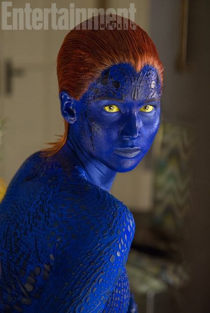 See Jennifer Lawrence's New 'X-Men' Photos: Why So Blue? - Music, Celebrity, Artist News | MTV.com