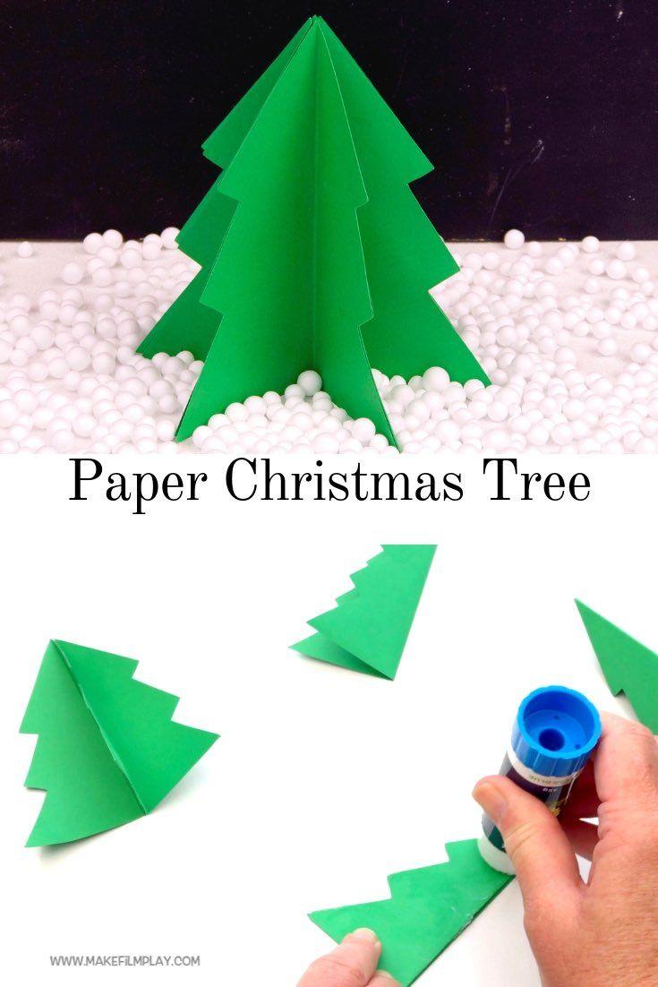 3d Paper Christmas Tree Christmas Tree Paper Craft Christmas Tree Crafts 3d Christmas Tree