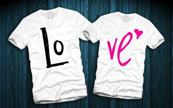 LOVE Couples Shirts LOVE Couples T-Shirts by FerskaShirtsAndGifts