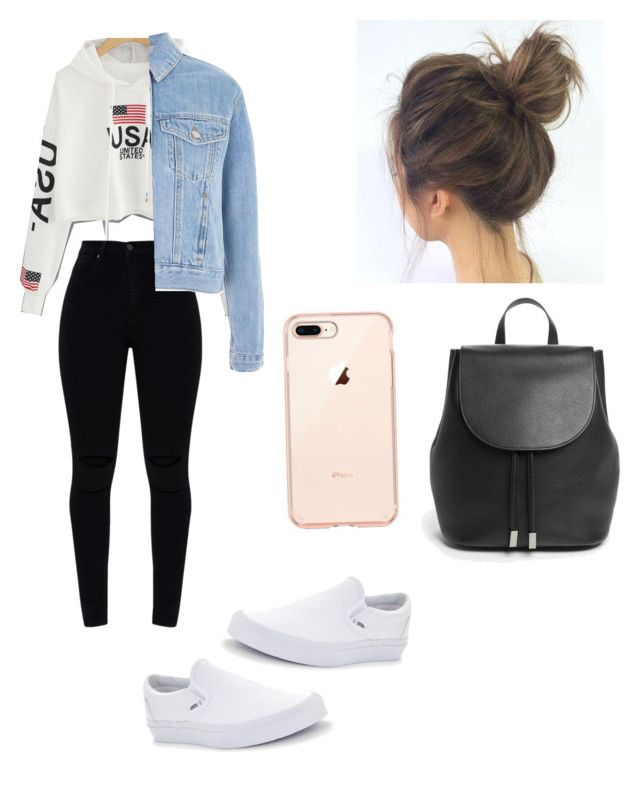 """Untitled #122"" by haileymagana on Polyvore featuring Vans, Topshop and Everlane"