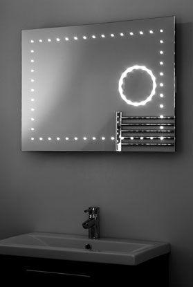 Led spiegel met vergrotingsspiegel en verwarming 80x60 / 60x80 cm | 9.100877k10000. Designspiegels.nl