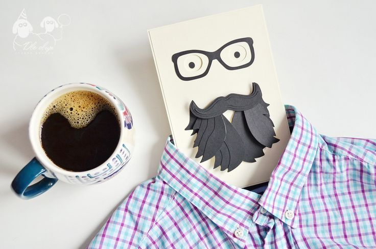 Bearded hipster card / Открытка Хипстер с бородой