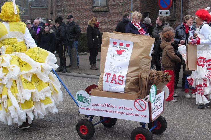 Einde aan verstrekking gratis plastic tasjes.
