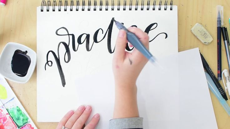 Day 4 March lettering challenge. Time lapse hand lettering video. I'm using a Pentel water brush with black india ink.