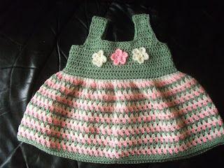 dit jurkje is geschikt voor meisjes rond 1 jaar. zo tussen maat 74 en 80..  10 cm= 16 stokjes gehaakt met haaknaald 4.  ik heb dit jurkje ...