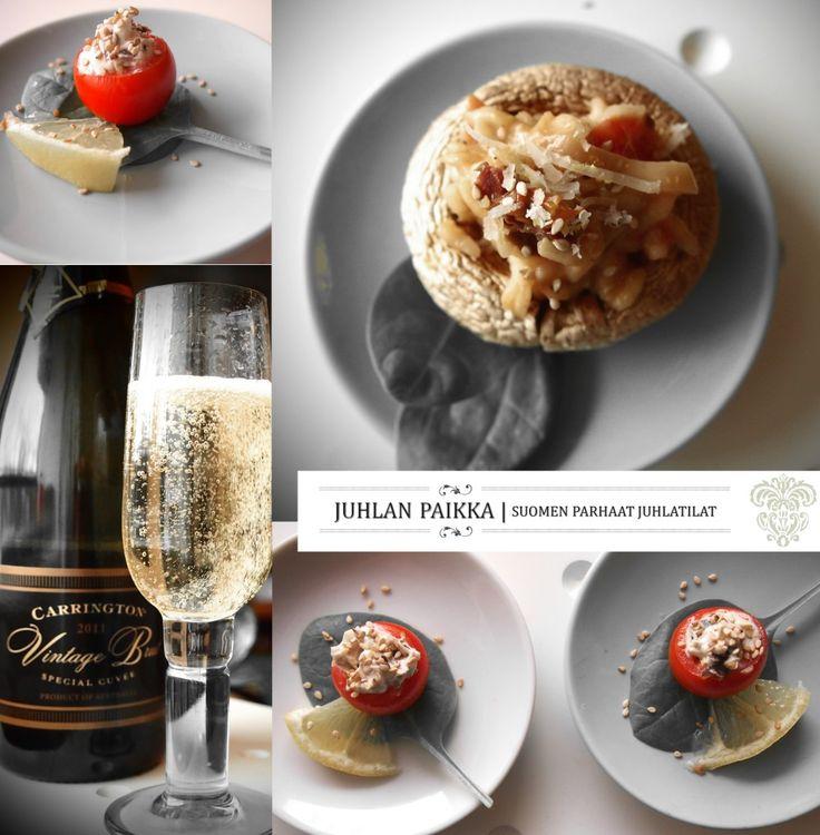 Juhlan Paikka ja tomaattisia sormiruokia | Fingerfood