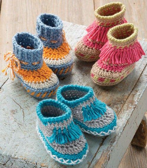 Crochet For Children: Baby Moccasins Crochet Pattern