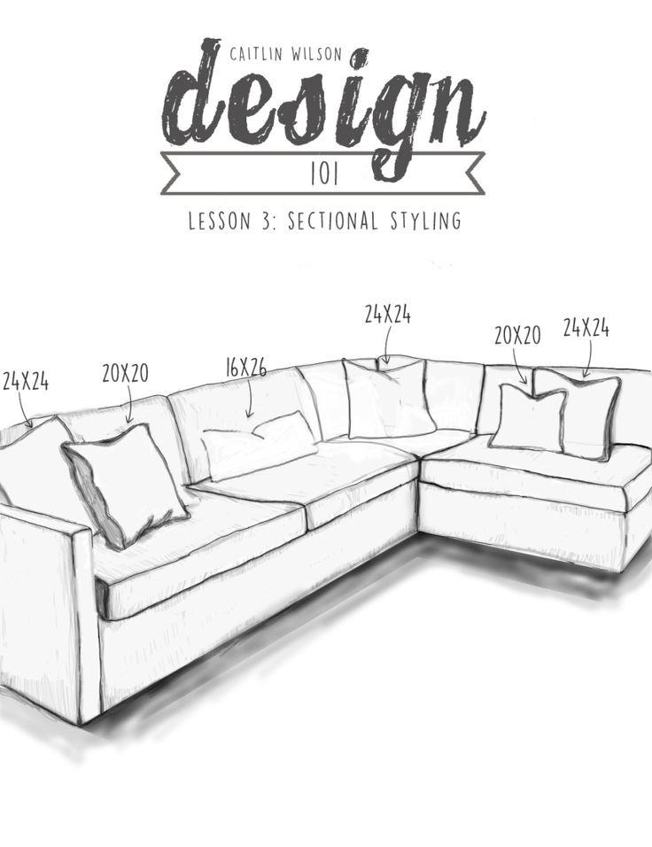 Caitlin Wilson Design | Design 101: Lesson 3- Sectional Styling