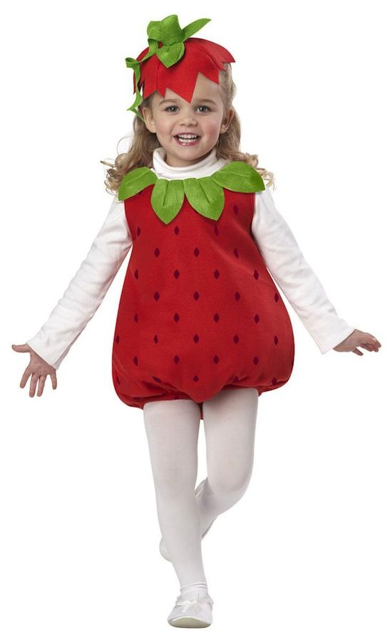 Disfraz de fresa para niña - BABYOCIO.COM actividades con niños