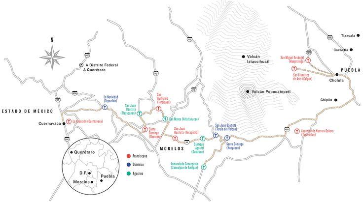 Ruta de monasterios, un recorrido por los monasterios del siglo XVI alrededor del Popocatépetl | Sada y el bombón