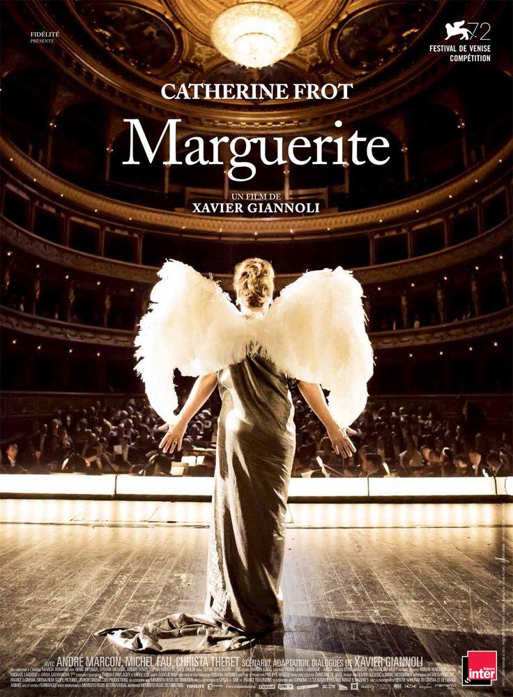 Marguerite est un film de Xavier Giannoli avec Catherine Frot, André Marcon. Synopsis : Le Paris des années 20. Marguerite Dumont est une femme fortunée passionnée de musique et d'opéra. Depuis des années elle chante régulièrement d