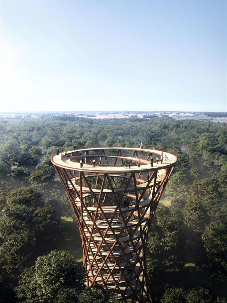 This Danish Forest Is Getting a Spiraling Treetop Walkway - Condé Nast Traveler