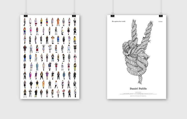 Daniel Palillo look book poster. Design Tony Eräpuro, illustration Laura Laine