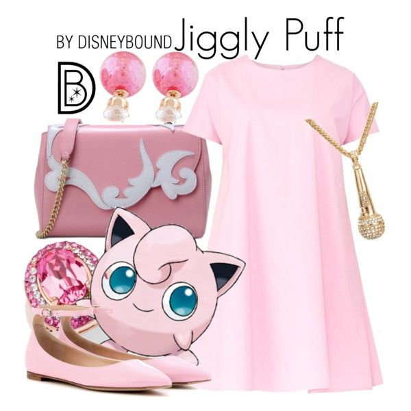 Jiggly Puff by leslieakay on Polyvore featuring Maiocci, Gianvito Rossi, Boutique Moschino, Palm Beach Jewelry and Pokemon