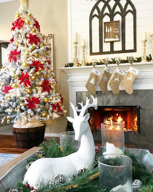 35 Ravishing Living Room Decoration At Christmas Christmas Tree