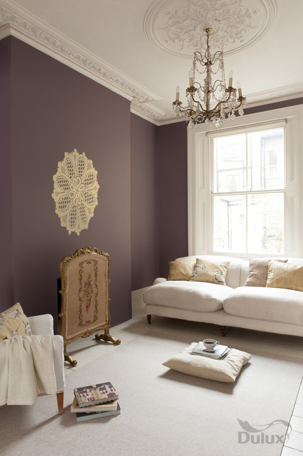 Paint Colour As Living Room Feature Wall