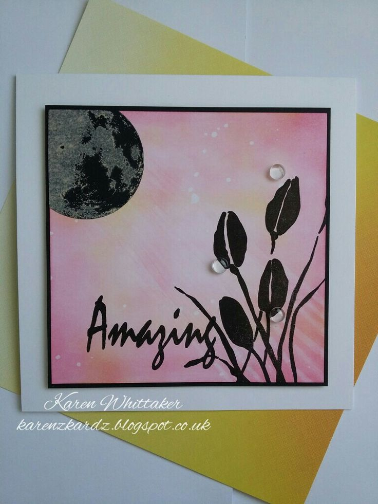 True Friends stamp by Stamps By Me and Moon stamp by Bee Crafty  #stampsbyme #truefriends #moonstamp #beecraftystamps #distressinks #flowers #stamping #stamp #cardmaking #card #creative #craft #ilovetocraft