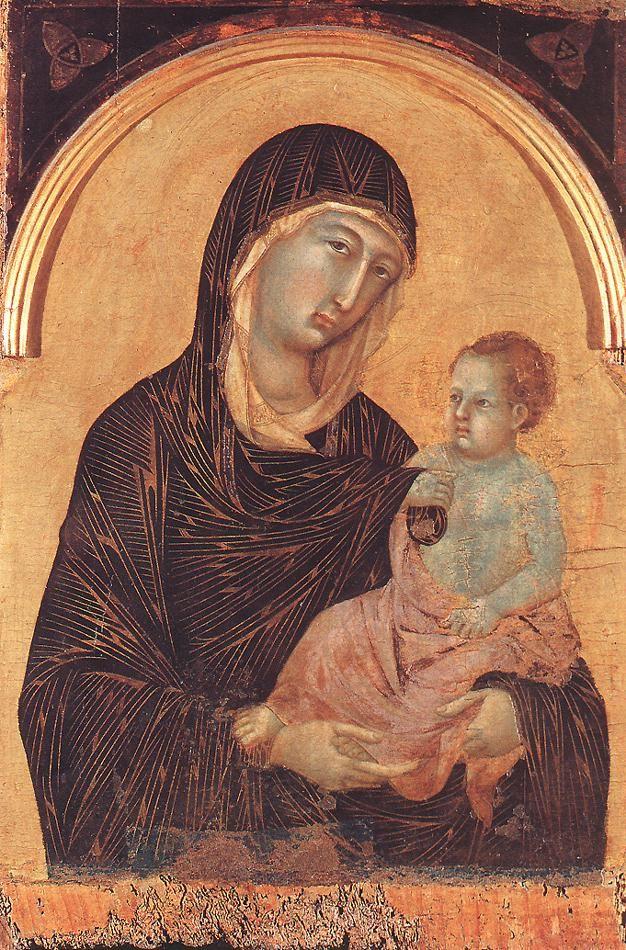 Pinacoteca Nazionale Siena - Duccio di Buoninsegna - Madonna and Child - Detail from polyptych No. 28