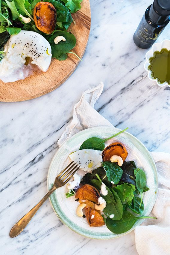Grilled apricots and burrata salads #Saltapoggio #extravirginoliveoil #evoo #foodphotography #foodstyling