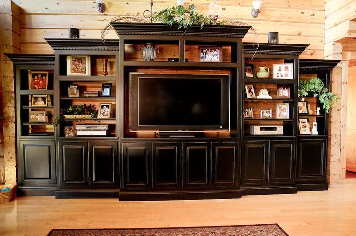 built in entertainment center designs | Custom Wall Unit and Entertainment Center