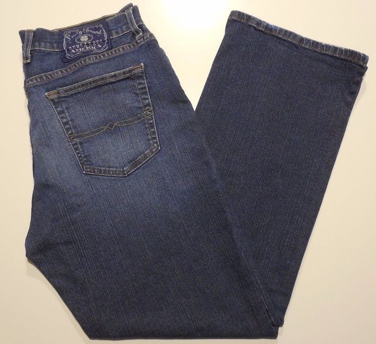 Lucky Brand Jeans Men 34 30 Bootcut Short Length Mens Size Cotton Blend Denim Sz #LuckyBrand #ClassicStraightLeg
