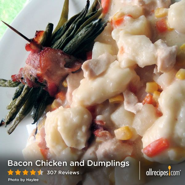 """Bacon Chicken and Dumplings 