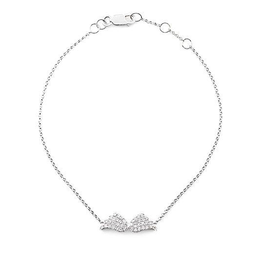 9 CARAT WHITE GOLD DIAMOND BRACELET