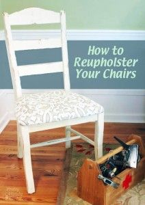 how do you reupholster dining room chairs | Reupholster dining chair, Video tutorials and Dining ...