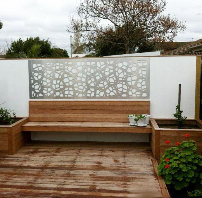Patio Wall Decorative Screen Decor In Our U0027Pretoriau0027 Design, Cut In White  Powder Coated Aluminium Composite. ~QAQ | Patio Screens U0026 Decor | Pinterest  ...