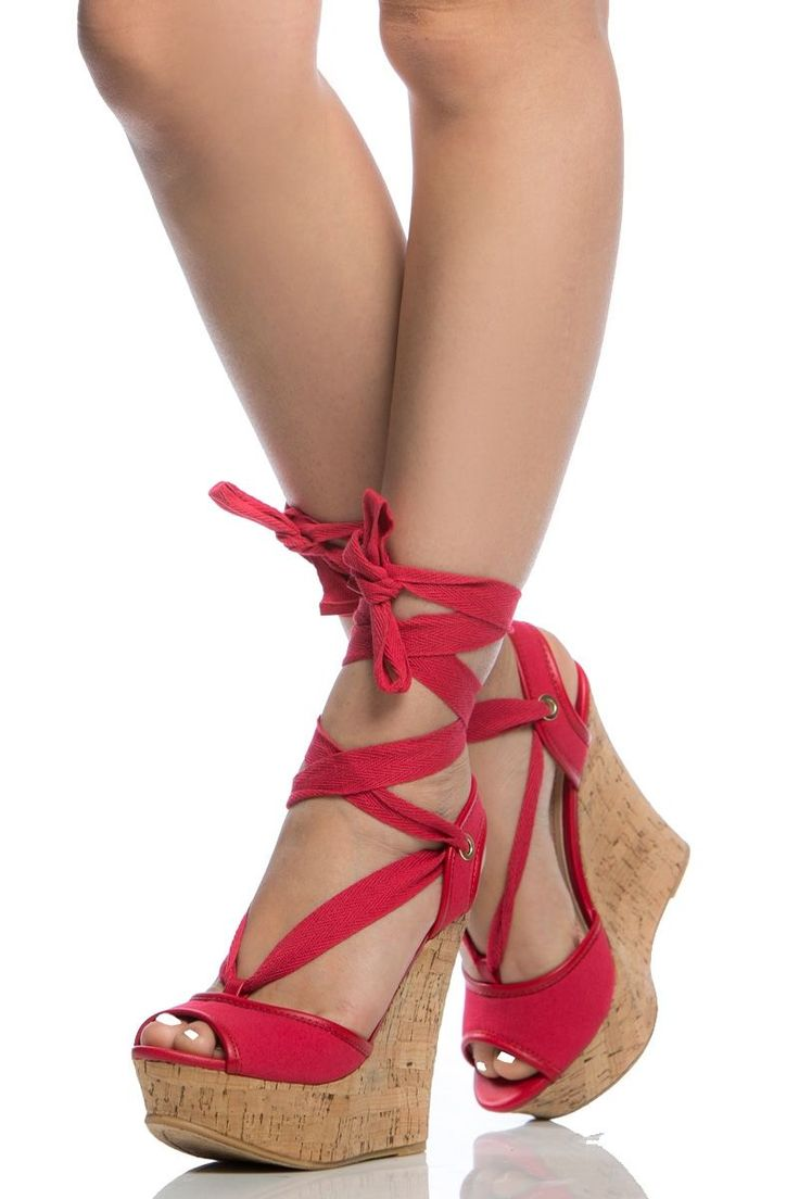 Red Woven Wrap Around Cork Wedges @ Cicihot Wedges Shoes Store:Wedge Shoes,Wedge Boots,Wedge Heels,Wedge Sandals,Dress Shoes,Summer Shoes,Spring Shoes,Prom Shoes,Women's Wedge Shoes,Wedge Platforms Shoes,floral wedges