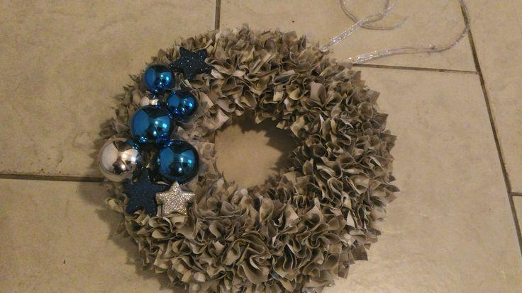 vánoční věneček modrý