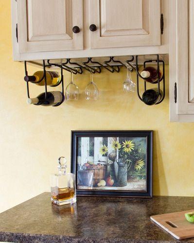 Wire Wine Bottle Rack Hanger Holder Rev A Shelf | eBay; good combined storage.
