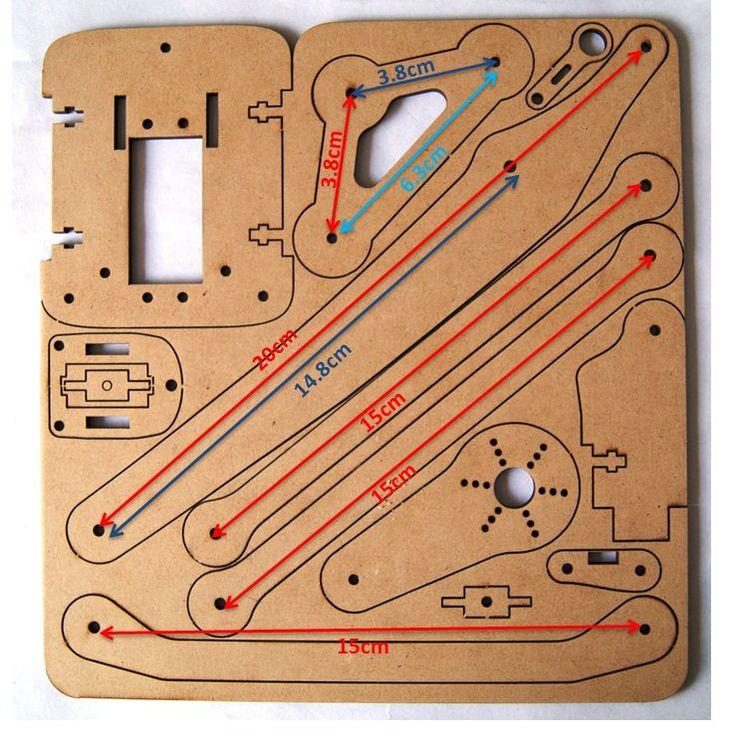 Brazo robótico MeArm HeTPro 3DOF MDF Grande