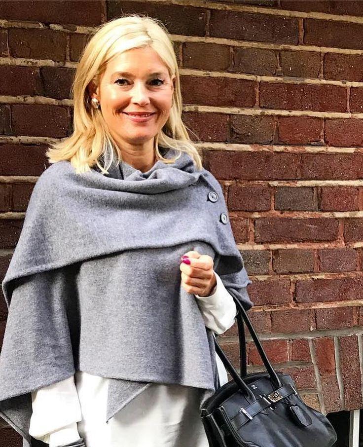 Petra Dieners wearing a beautiful cape from simone Cuntz