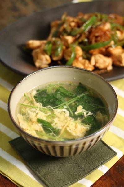 【三つ葉とたまごの中華風スープ】 by 越石直子 / レシピサイト「ナディア / Nadia」/プロの料理を無料で検索