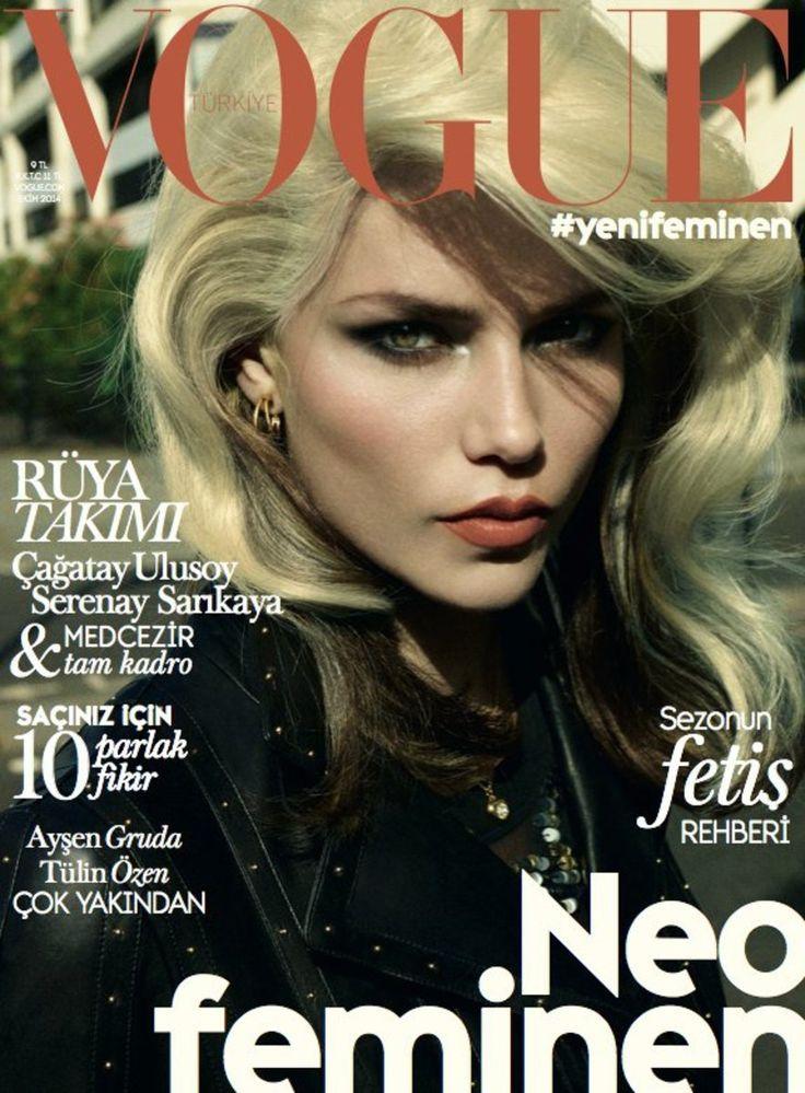 Vogue Turkey - October - Natasha Poly - Cuneyt Akeroglu - 2014 www.lisaeldridge.com #LisaEldridge #beauty #makeup #CuneytAkerogly