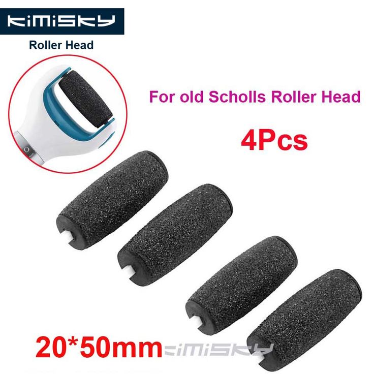 4Pcs Black Foot care tool roller Heads Kimisky  pedicure herramientas hard roller Heads for scholls size 4pcs Free Shipping
