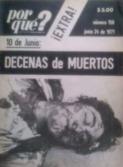 El Halconazo fue una matanza de estudiantes durante el 71  la cual el gobierno orquesto