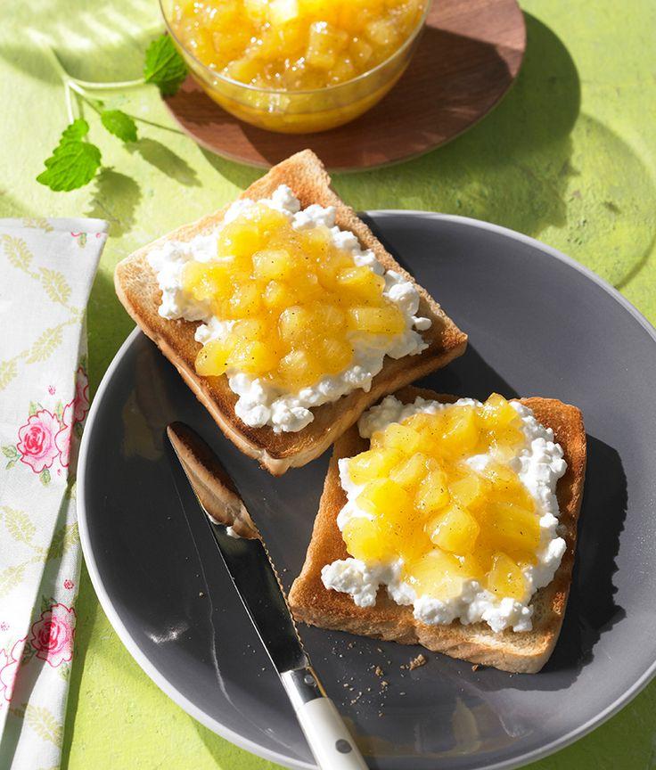 Ananaskonfitüre mit Vanille, kalorienreduziert -  Ananaskonfitüre mit Süßungsmittel aus Stevia