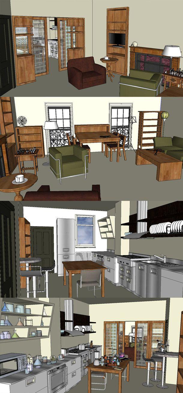 folha5eca - Layouts for 221B Baker Street (i.e. Sherlock2010 dollhouse project??!)
