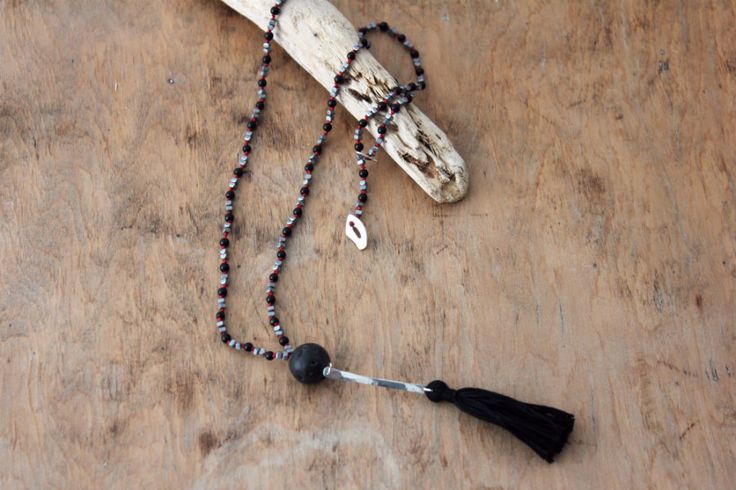 Hand knotted tasseled bohemian necklace