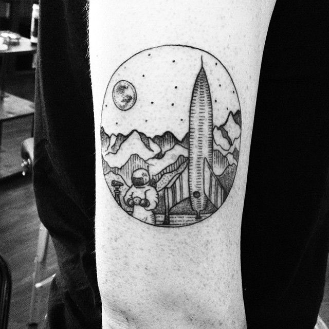 solar system tattoo black and white - photo #35