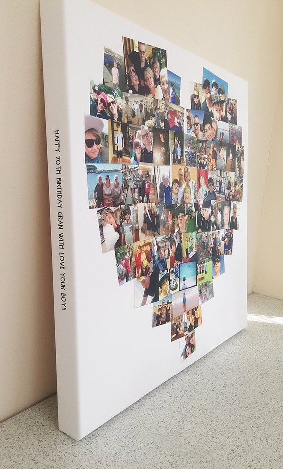 Ready to hang Personalised Canvas Collage Prints Photo Image