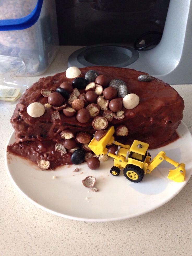 Homemade birthday cake chocolate chiffon with chocolate fudge