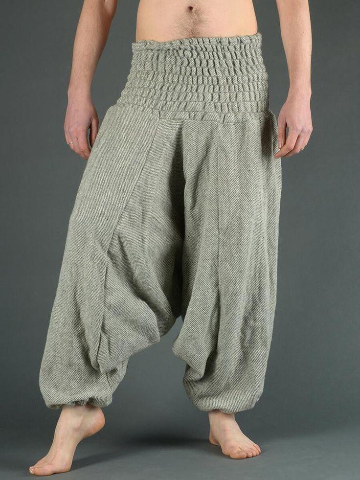 Sarouel laine à rayures grises (homme)