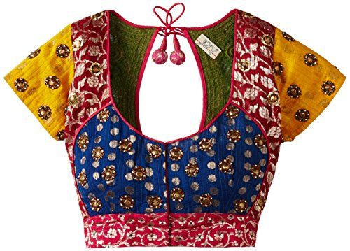 Multicolored Blouse Can Choose with any color.. Try at http://www.mytailor.in/