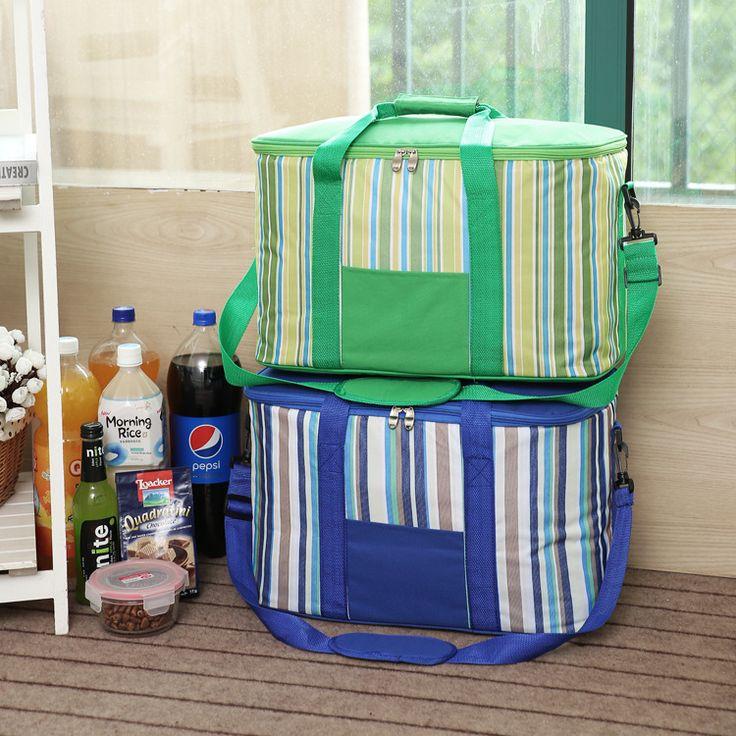 34L SANNEN raya grande de hielo de espesor bolsa de picnic con aislamiento cooler bag on vehicular refrigerador del coche del organizador del almacenaje