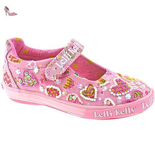 Lelli Kelly LK4106 (AH01) Argento Patent Magiche Shoes-32 (UK 13) vmjKUj