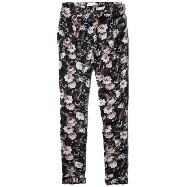 Abercrombie and Fitch SKYLER TAPERED LEG PANT (54 AUD) ❤ liked on Polyvore featuring pants, bottoms, jeans, calças, trousers, drapey pants, lightweight pants, peg leg trousers, peg-leg trousers and pocket pants
