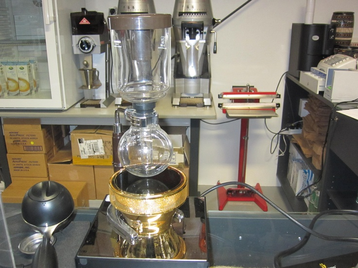 Haros Syphon with ultraviolet light water heater. Nice but expencive.